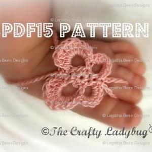 Butterfly barefoot sandals pattern ..