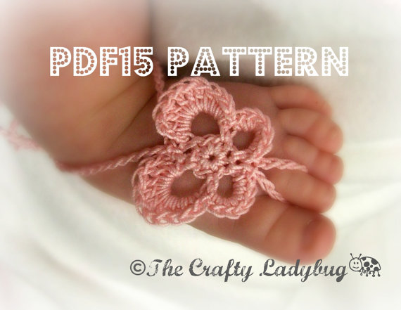 Butterfly barefoot sandals pattern - for babies and toddlers - PDF15